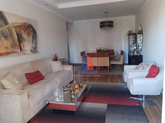 Apartamento Com 3 Dormitórios À Venda, 134 M² Por R$ 650.000 - Edifício Itararé - Centro - Americana/sp - Ap1110