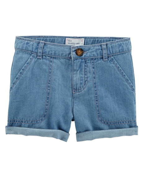 Short Denim Jeans Mangas Cortas Carters - Nena