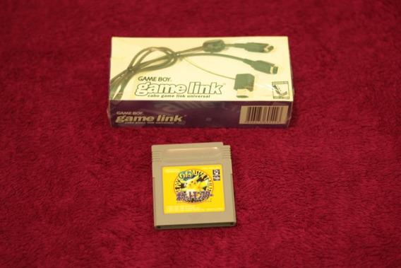 Pokemon Yellow Japones + Cabo Link Lacrado Nintendo Game Boy