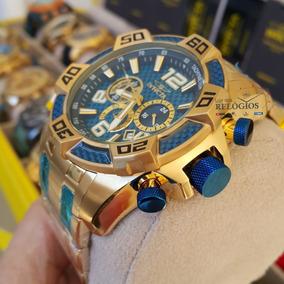 Relógio Invicta Pro Diver 25852 Original Ouro 18k Com Azul
