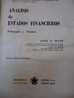 Analisis De Estados Financieros Principios Y Tecnicas