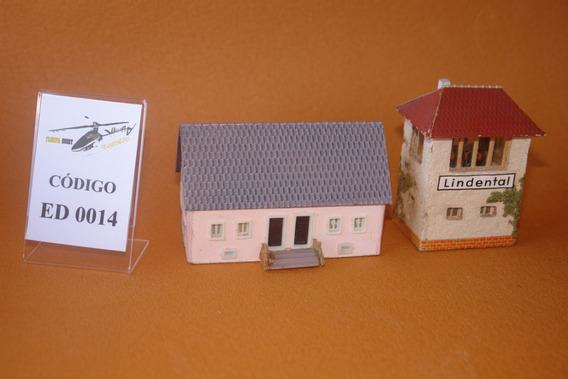Ho 1:87 Estação Casa Edifício Maquete - Prédio Cód. Ed 0014