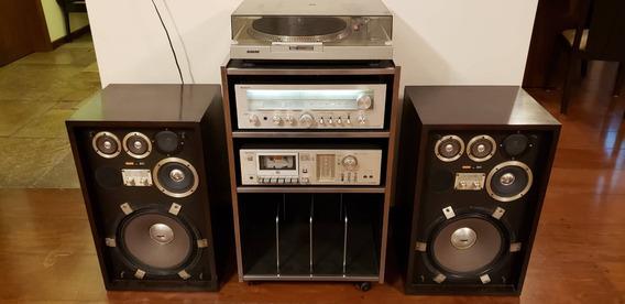 Conjunto Completo Sony - Receiver - Tape Deck - Sony Ss-911