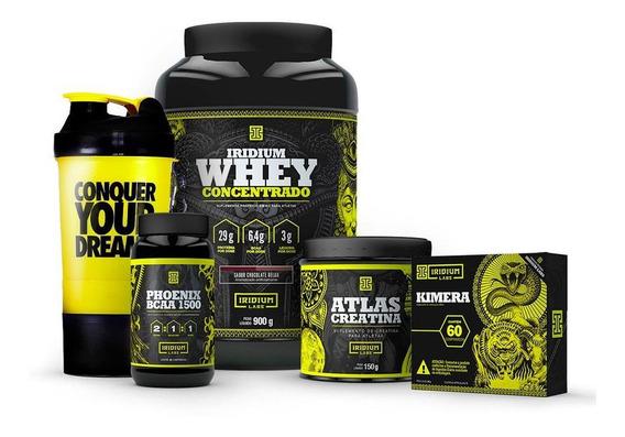 Combo Kimera + Whey Protein + Bcaa 3000 + Creatina + Shaker