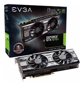 Placa De Vídeo Nvidia Geforce Gtx 1070 Ti Sc 8gb Gddr5 Evga