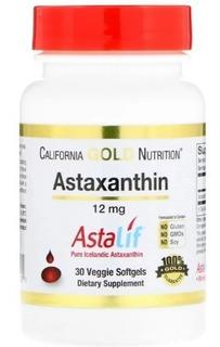Astaxantina California Gold 12 Mg - 30 Cápsulas Astaxanthin