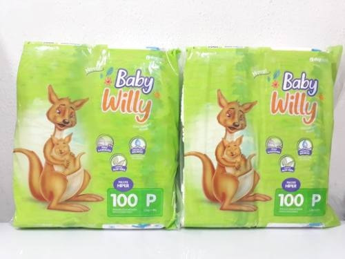 200 Fraldas Baby Willy Pacote Hiper Tamanho P Promoção