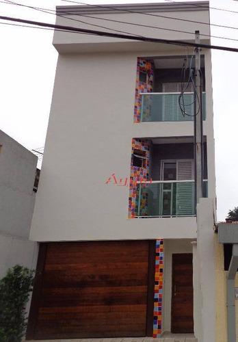 Cobertura Com 2 Dormitórios À Venda, 65 M² Por R$ 350.000,00 - Parque Oratório - Santo André/sp - Co0060