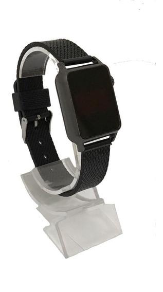 Relógio De Pulso Led Digital Feminino Masculino Preto Barato