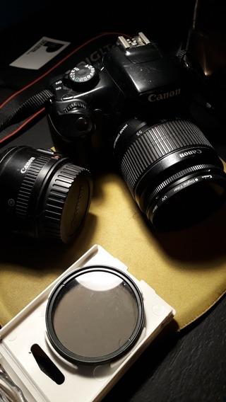 Camera T3 Canon Seminova Bom Estado + Lente 18-55mm + Filtro
