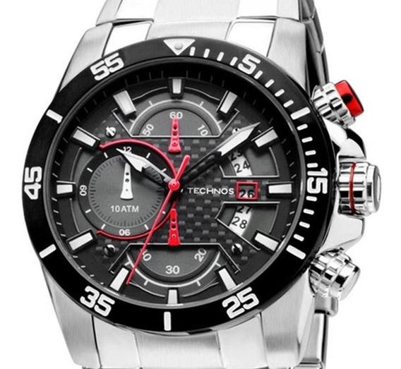 Relógio Technos Masculino Performance Carbon Os10er/1r