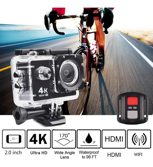 Câmera 4k Tipo Gol Pro