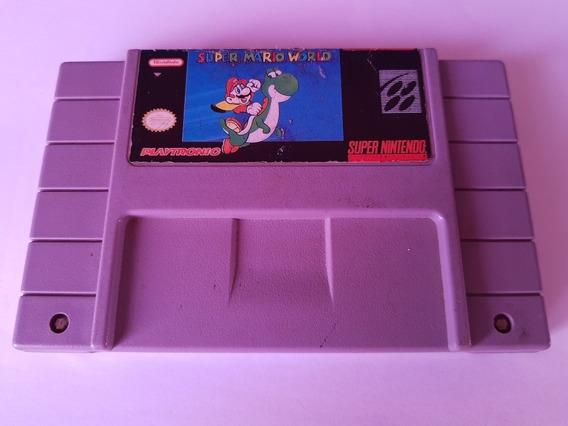 Super Mario World Super Nintendo Original Americano! 100% Ok
