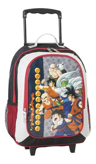 Mochila Dragon Ball Z Con Carro 17° Original Reforzada Envio