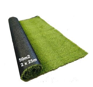 Rollo 50m2 Pasto Sintetico Artificial Para Jardin 35 Mm
