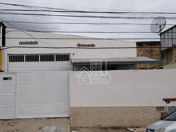 Galpão Para Alugar, 301 M² Por R$ 5.152,00/mês - Paraíso - São Gonçalo/rj - Ga0014
