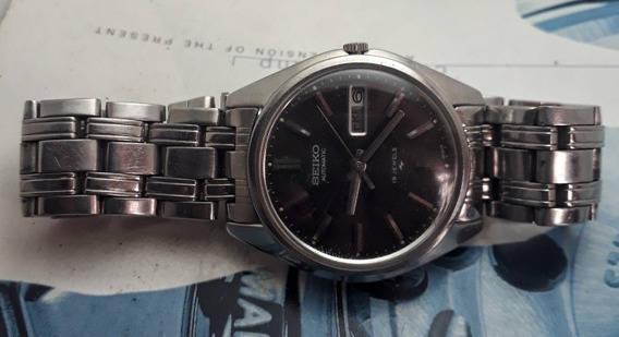 Relógio Seiko Automático Mostrador Cinza