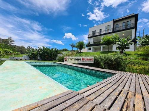 Chácara Com 4 Dormitórios À Venda, 1000 M² Por R$ 2.650.000 - Tapanhão - Jambeiro/sp - Ch0064