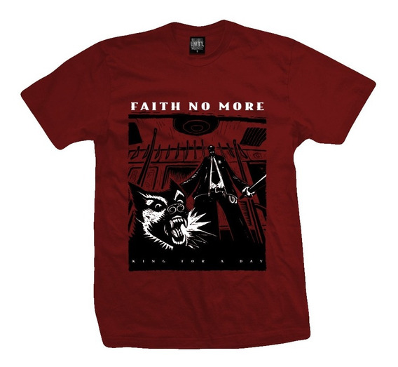 Remera Faith No More King For A Day (color Bordo Lava)