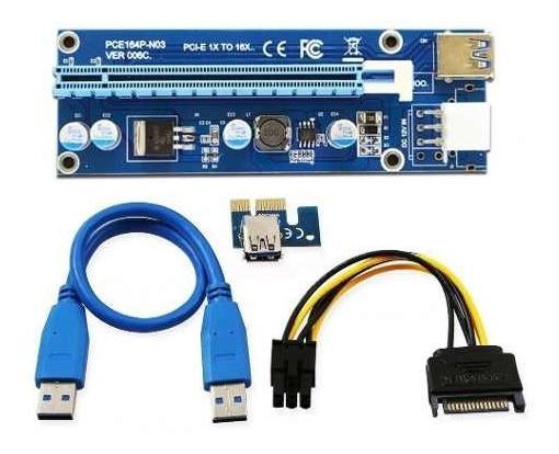 Cabo Riser Pci-e Card V006c Usb 3.0 Pci-e Mineração Ethereum
