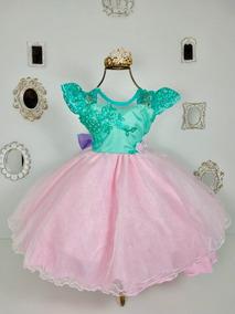 Vestido Infantil A Pequena Sereia