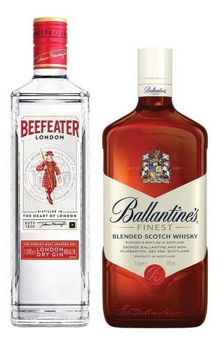 Combo Ballantine's Finest Whisky + Beefeater London Gin 1 Lt