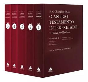 Livro Antigo Testamento Interpretado 5 Vol. Comentado Hagnos