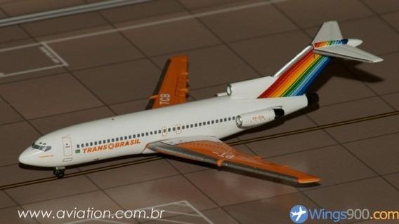 Lote De 5 Miniaturas De Aviões Transbrasil Em Escala 1/400