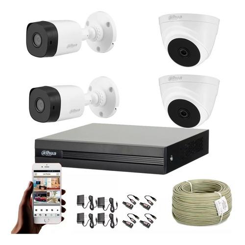 Imagen 1 de 7 de Cámaras De Seguridad Kit Cctv 1080p Cooper By Dahua Dvr+4cám