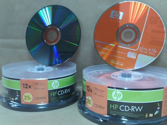 Cd Rw Regrabable 4x-12x 80 Min/700mb 100%nuevo-original Hp
