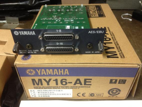 Yamaha My16-ae Digital I/o Card - Nova Sem Garantia