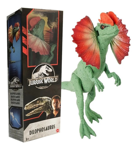 Imagem 1 de 5 de Dinossauro Dilophosaurus 30cm - Jurassic World Rivals Mattel