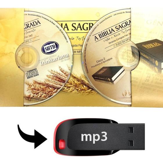A Bíblia Sagrada Em Pendrive Formato Mp3 + Bíblia Brinde