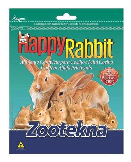 Happy Rabit - Ração Para Coelho - 10 Kg