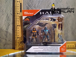 Halo Brute Weapons Customizer Pack Mega Construx (57 Piezas)