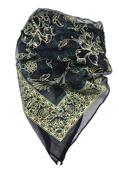 Cuadrado 110x110 Cm Estampado Flores Multicolores