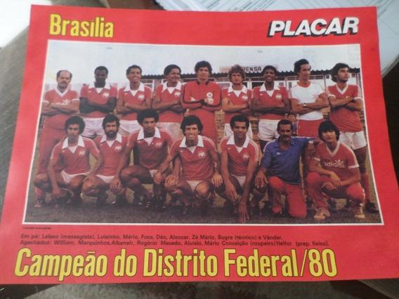 Poster Brasilia Campeão Distrito Federal 1980 21x27 Cm