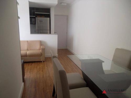 Apartamento Com 2 Dormitórios À Venda, 57 M² Por R$ 500.000,00 - Jardim - Santo André/sp - Ap0567