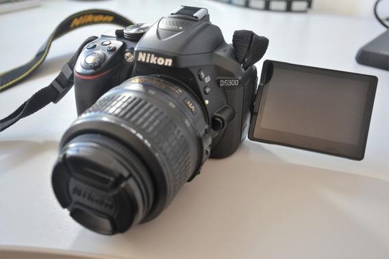 Câmera Dslr Nikon D5300 Com Pouquíssimo Uso + Lente 18-55mm