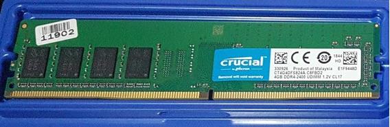 Vendo Memória Ram Crucial 4 Gb Ddr4