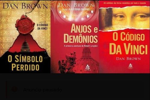 Box Livros Trilogia O Código Da Vinci Dan Brown