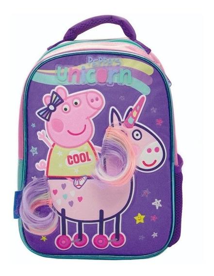 Mochila Espalda Jardin 12pulg Peppa Pig 3d Original Escolar