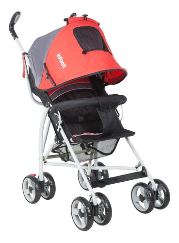 Coche Sombrilla Spin H108 Black Grey Red Infanti - Spin H108
