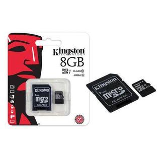Cartão Micro Sd Com Adaptador 8gb Kingston