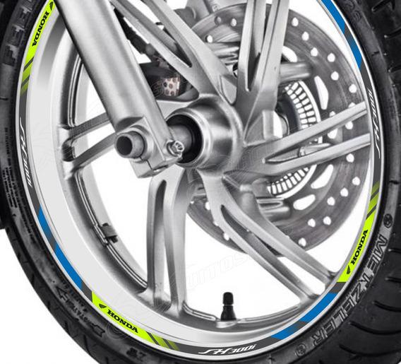 Friso Adesivo Refletivo D2 Roda Moto Honda Sh 300 I