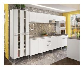 Cozinha Completa Modulada Lia 14 Portas E 4 Gavetas Branca