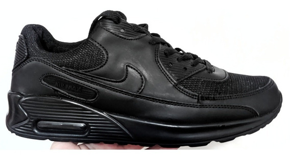 Zapatos Nike Air Max 90 All Black Tallas 38 39 (20usd)