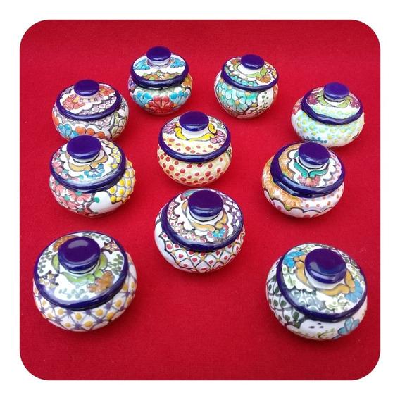 Set 15 Alhajeritos De Talavera Poblana Redondo Color 5cm Lhj