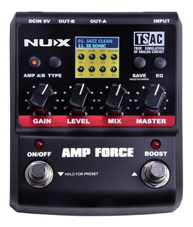 Pedal Emulador De Amplificadore Guitarra Nux Amp Force