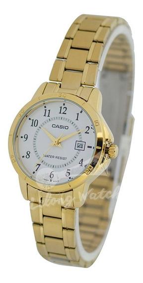 Relógio Casio Feminino Vintage -ltpv004g7- Original -s Caixa